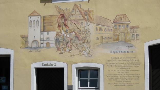 Mural in Donauwörth commemorating the Kreuz- und Fahnengefecht