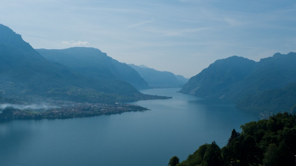 Lago di Como from the road to the Madonna del Ghisallo