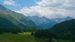 View from the road to the Passo Bernina