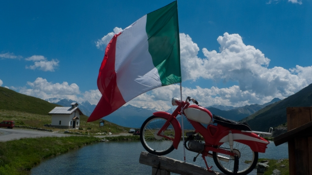 At the Passo di Foscagno on the road between Bormio and Livigno (Lombardia)