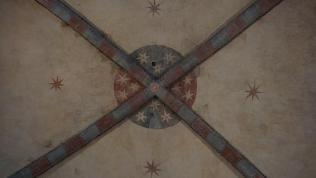 Abbazia di Santa Maria di Staffarda detail of the ceiling decoration