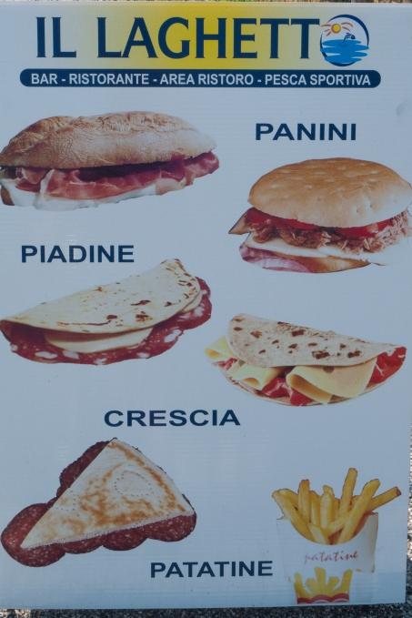 sign advertising panini