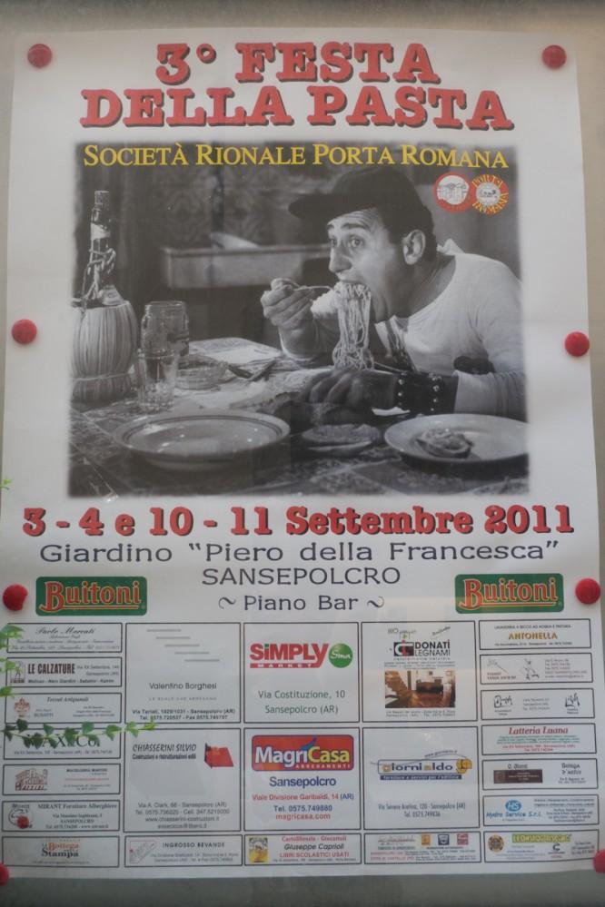 Poster for the Festa della pasta Sansepolcro (Toscana)