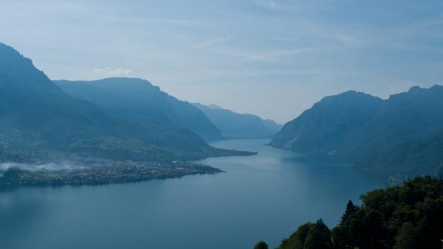 Lago di Como from the road to the Madonna di Ghisallo
