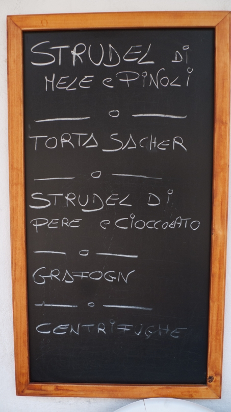 Sign from a pasticceria in the Veneto