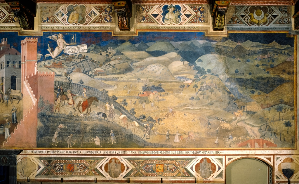 Peaceful City Ambrogio Lorenzetti