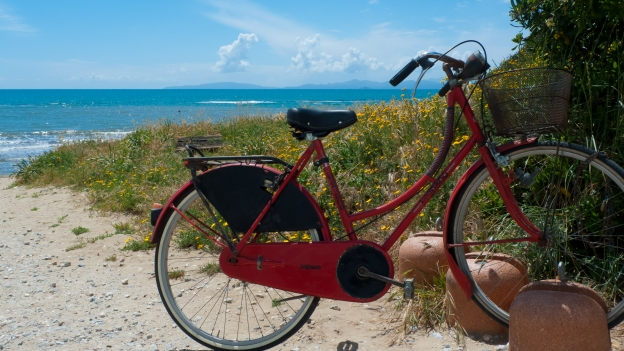Bike on the beach near Follonica - Toscana