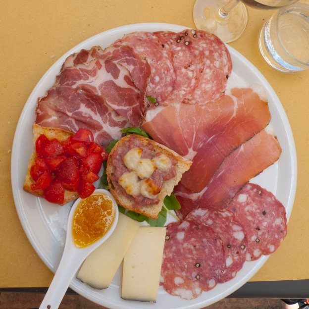 Antipasto in southern Toscana