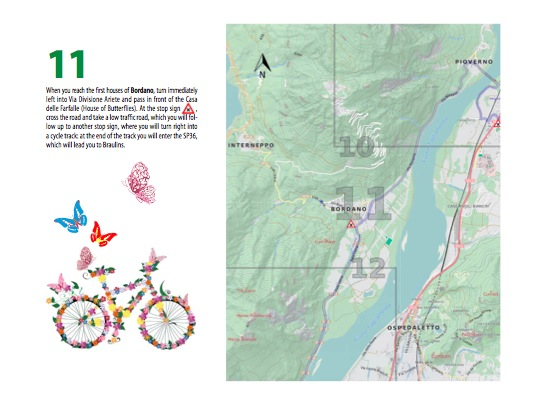 A page from the road book for the Ciclovia Alpe-Adria Radweg (not full-size)