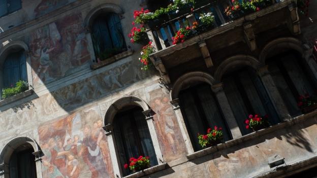 Feltre - frescoed house facade