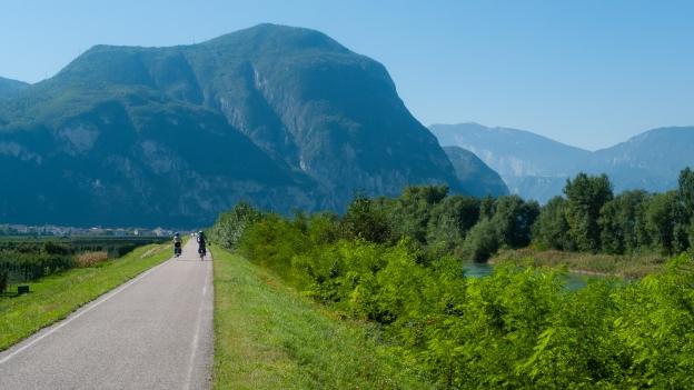 Cycleway between Bozen (Bolzano) and Trento