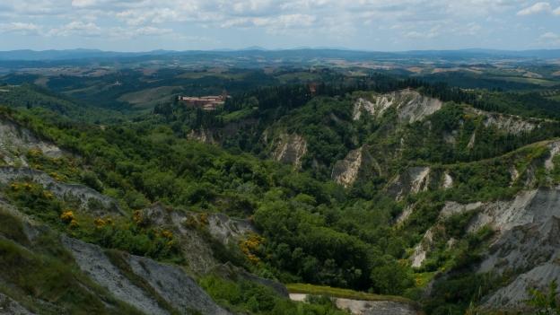View of the Abbazia di Monte Oliveto Maggiore