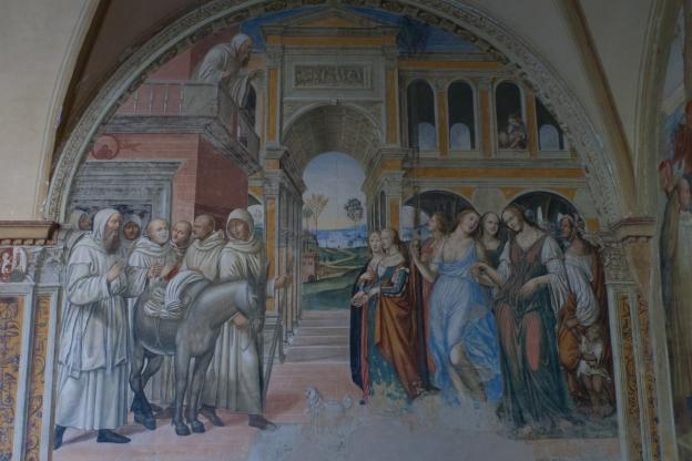 Monte Oliveto Maggiore: fresco by Il Sadoma 'Le Male Femmine'
