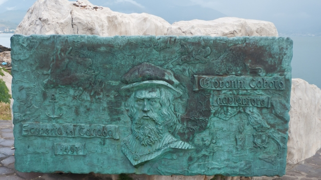 Gaeta: memorial to Giaccomo Caboto