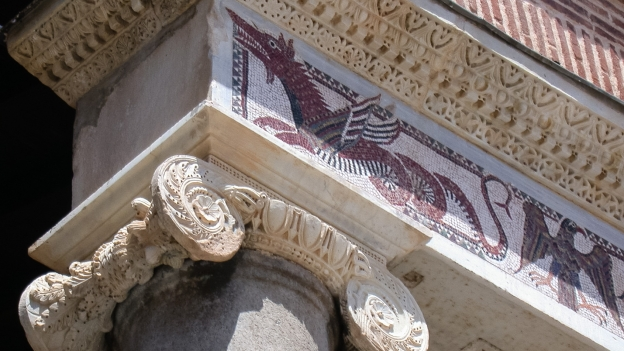 Mosaic decorations from the façade of the Duomo di Terracina