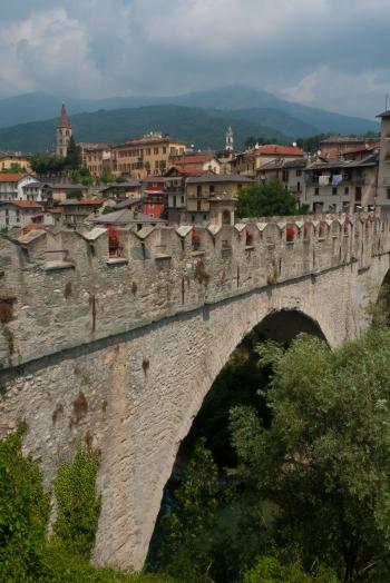 Dronero and the Ponte del Diavolo (Devil's Bridge)