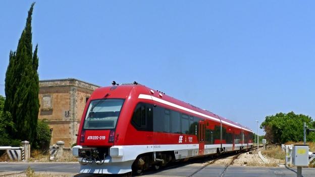 FSE train near Nardò in Puglia