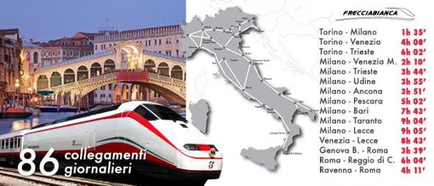 Trenitalia.com: frecciabianca services and journey times