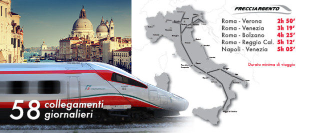Frecciargento services and journey times