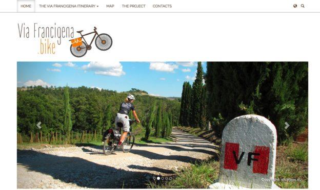 Screenshot from the viafrancigena.bike website