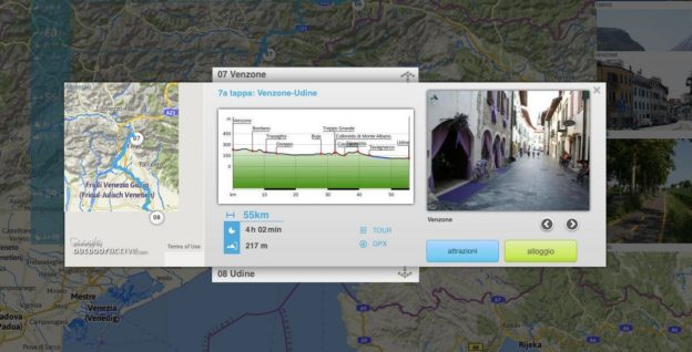 Screenshot from the alpe-adria-radweg.com website
