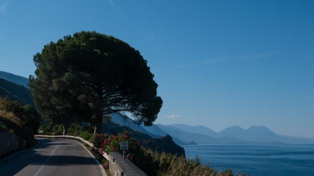 Campania: the coast road south of Sapri