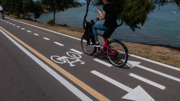 Seafront cycle lanes near Cannigione