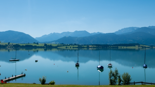 View of the Forggensee from Ulli's cafe