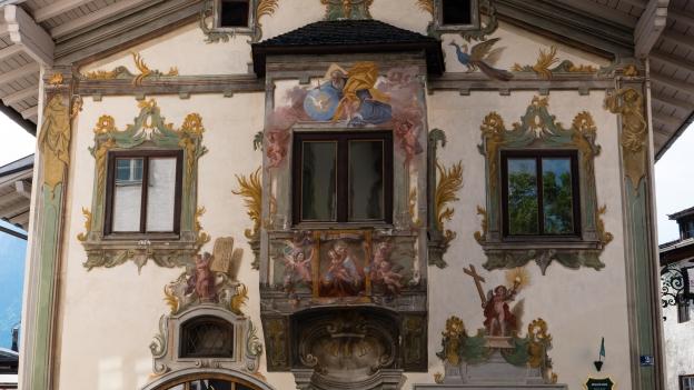 Reutte the Zeiller Haus with frescoes by Johann Jakob Zeiller