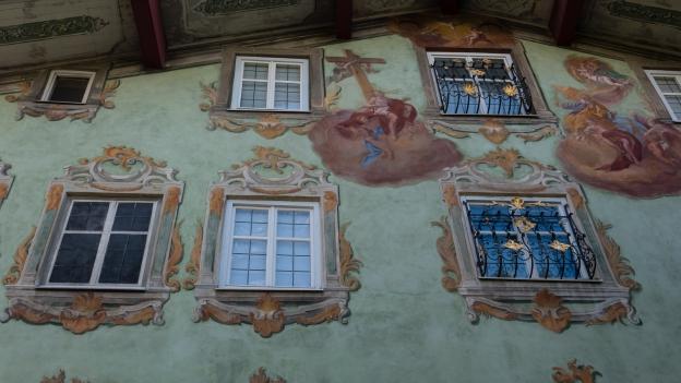 Reutte: the Grüne Haus. Frescoes by Johann Jakob Zeiller