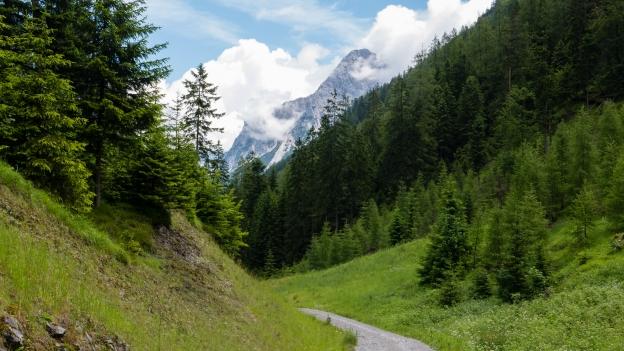 The climb from Biberwier to the Fernpass