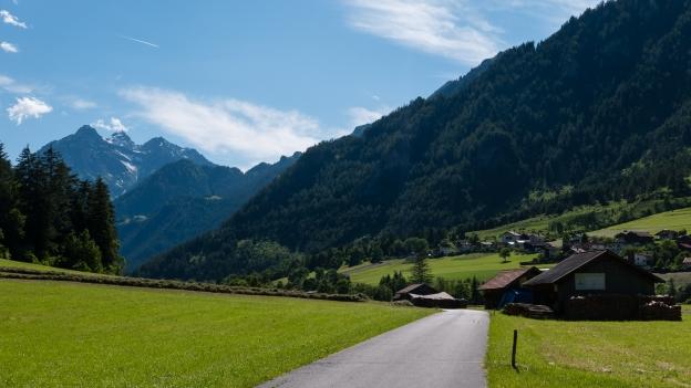 The Innradweg/Via Claudia near Pfunds