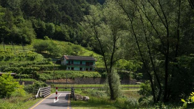 The Ciclabile della Valsugana cycleway near Grigno near Grigno