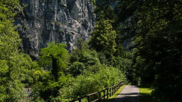 The Ciclabile della Valsugana cycleway near Enego (Veneto)