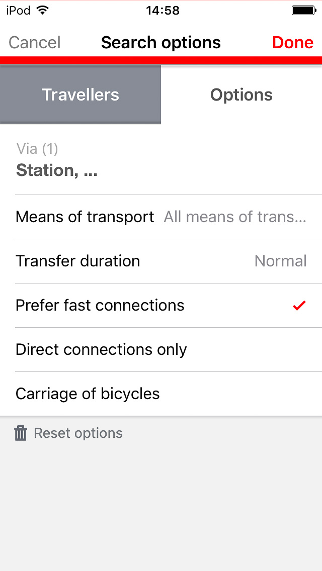 DB Navigator Options tab with defaults