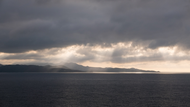 Cap Corse: coastline as the clouds gather